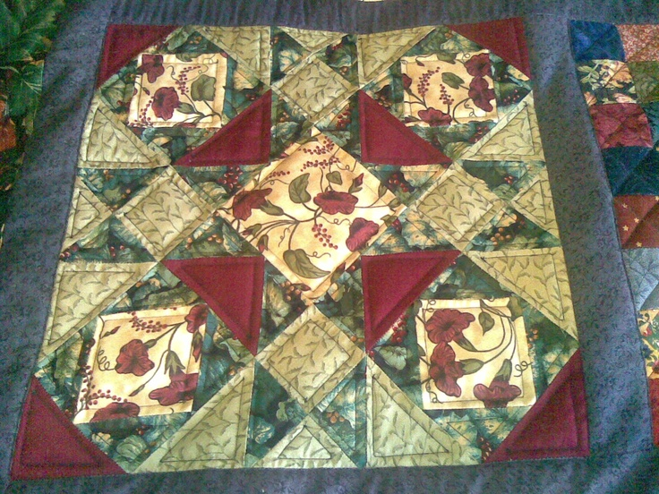 This block was my contribution to Jenny Wallis' quilt in the Kaniva Windmill Stitchers mystery Initial Quilt round robin in 2006.