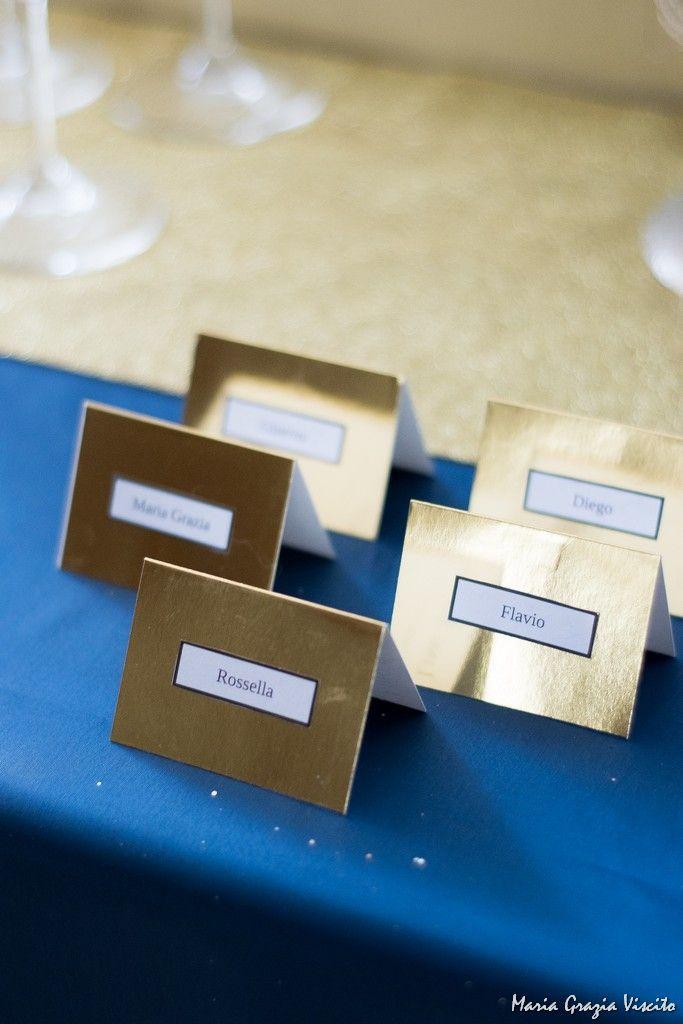 xmas table: blue-gold