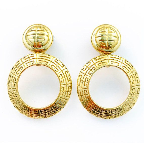 Givenchy Earrings  Givenchy Bjioux Round Clip On Earrings