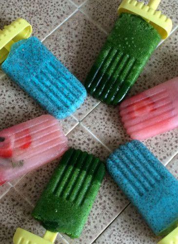 Detox Eis aus Wassermelone oder Chai Samen