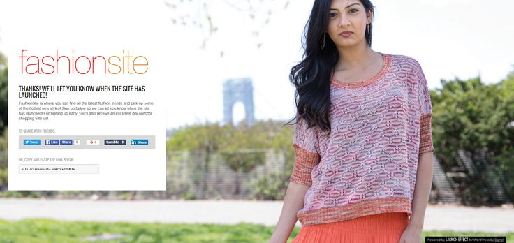 Welcome to the home of the new fashionsite.com! FashionSite is where you can find all the latest fashion trends and pick up some of the hottest new styles! Sign up below so we can let you know when the site has launched! For signing up early, you'll also receive an exclusive discount for shopping with us!
