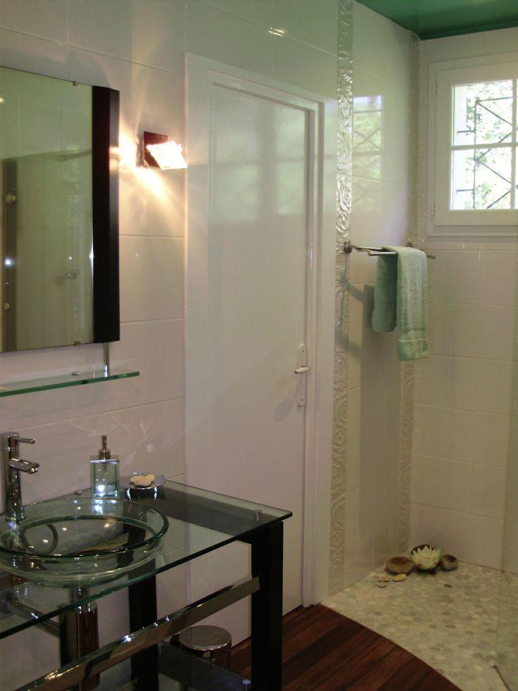 15 best Frise en Galets_Salle de Bain images on Pinterest Bathroom - teck salle de bain sol