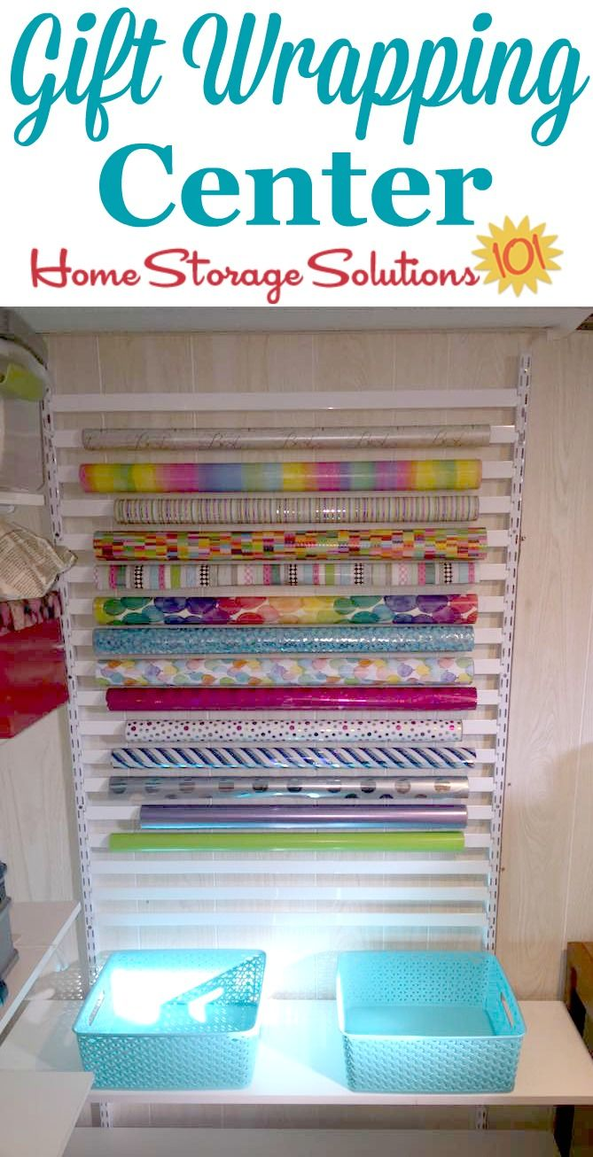 Wrapping Paper Storage Solutions For All Your Gift Wrap