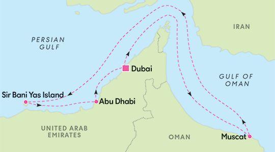Dubai, Muscat (Oman), Abu Dhabi - hotelliyöpyminen Dubai Risteilypaketti, lennot ja hotelli