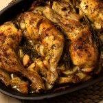 Makkelijke ovenschotel met kip, aardperen, venkel en citroen