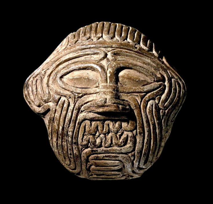 Clay mask of Humbaba, the guardian of the Cedar Forest (Gilgamesh epos). The face is rendered as if made up of coils of a sheep's intestines. 'If the coils of the colon resemble the head of Huwawa, [this is] an omen of Sargon who ruled the land. If ...., the house of a man will expand. [Written by] the hand of Warad-Marduk, diviner, son of Kubburum, diviner.' Warad-Marduk lived in the Sippar (southern Iraq), around 1800–1600 BC. As a professional diviner, his job was to predict the future…