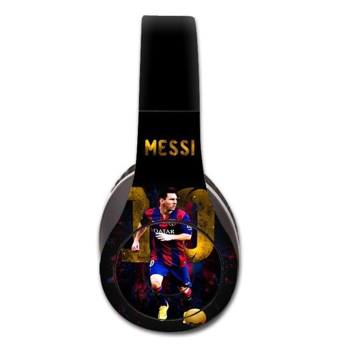 Messi decal for Monster Beats Studio 1.0 wireless headphones