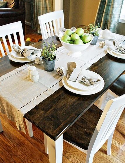 Refinished black white oak table and chairs How to Refinish and Repair an Oak Dining Room Table and Chairs