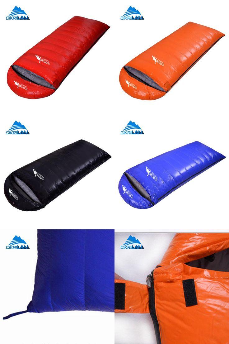 [Visit to Buy] Outdoor Hiking Camping Equipment Envelope Warm Duck Down Sleeping Bag Ultralight Water Resistant Sacos De Dormir Compression Bag #Advertisement