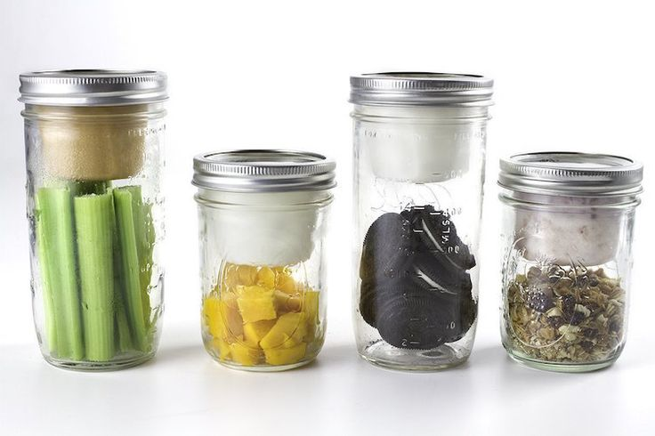 Mason Jar Lunchables using empty (and clean) dole fruit or applesauce plastic cups!