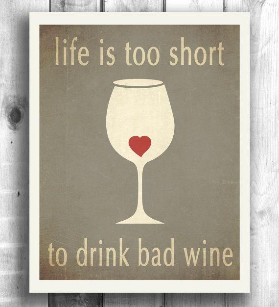 Kitchen art bar decor wine print, inspirational art, Art for kitchen, wine art…