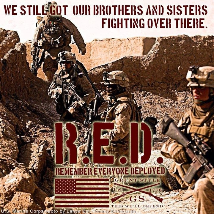 RED Fridays.....Remember Everyone Deployed, Until They All