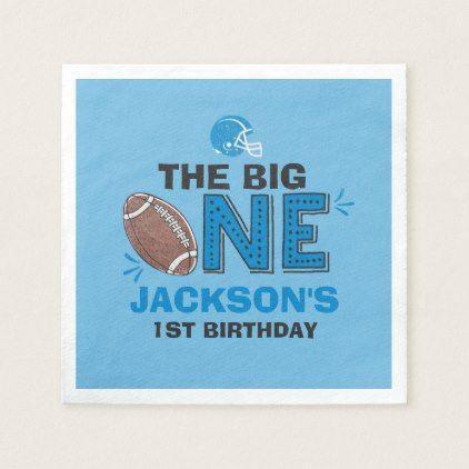 Football Party Napkin Football 1st Birthday - birthday gifts party celebration custom gift ideas diy
