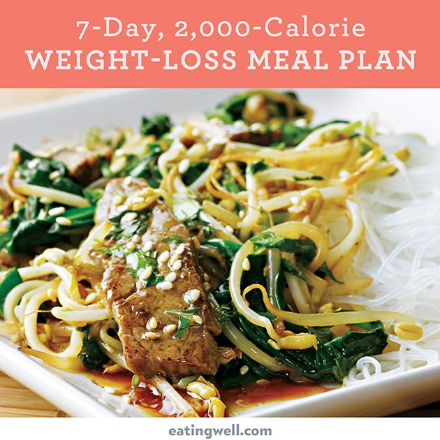 This this easy-to-follow 7-day, 2,000-calorie meal plan is designed by EatingWell's registered dietitians and culinary experts to offer healthy and delicious meals for weight loss.