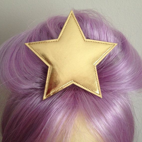 Adventure Time Lumpy Space Princess gold star hair by SpaceInvader