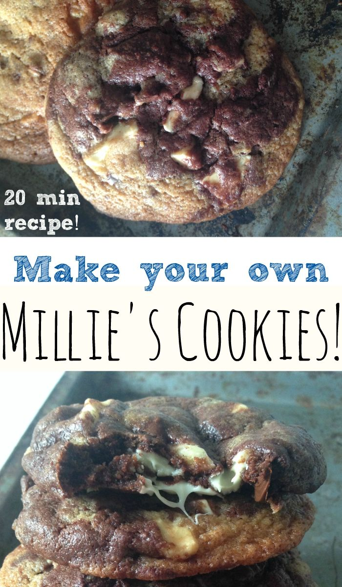 Make your own Millie's Cookies at home in just under 20 minutes!
