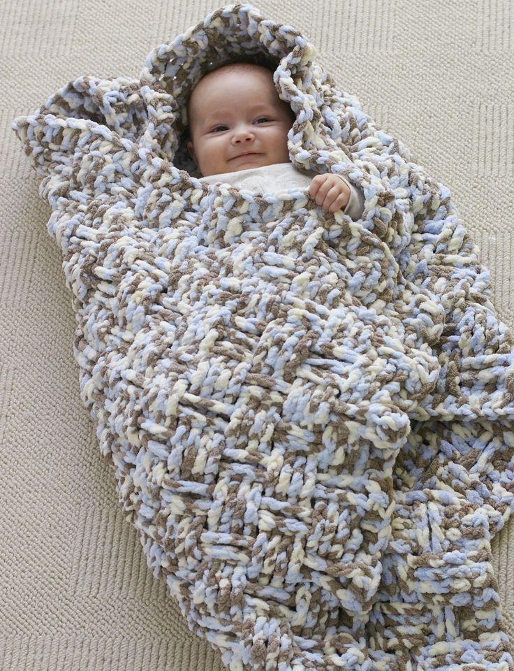 Yarnspirations.com - Bernat Dream Weaver Blanket - Free Pattern - Crochet - Easy    Yarnspirations