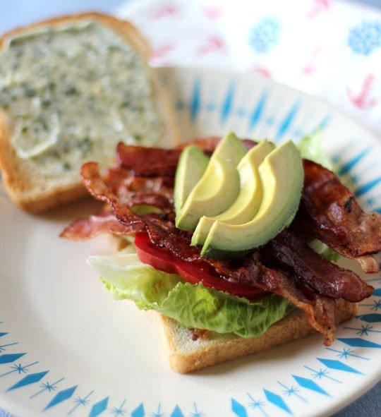 BLT with avocado and basil mayo | Foodie | Pinterest
