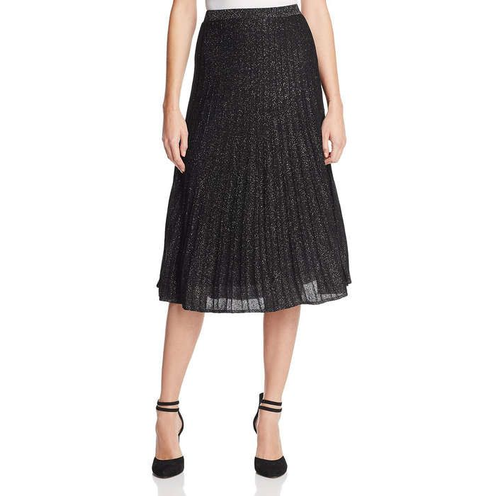 Rank & Style - NIC and ZOE Luminary Pleated Metallic Knit Skirt #rankandstyle Loved for: Party-worthy shimmer