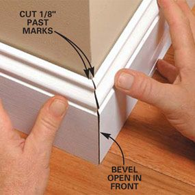Perfect Trim on Doors, Windows and Base Moldings - Step by Step