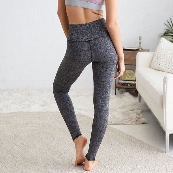 Aerie Play Legging (54 AUD) ❤ liked on Polyvore featuring pants, leggings, grey, grey leggings, grey trousers, aerie leggings, full length leggings and aerie pants
