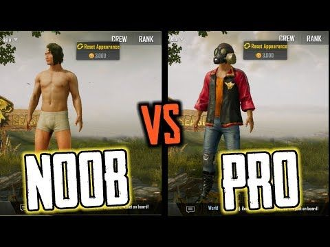 NOOB PLAYER VS PRO PLAYER || PUBG MOBILE - YouTube | PUBG TRICKS AND