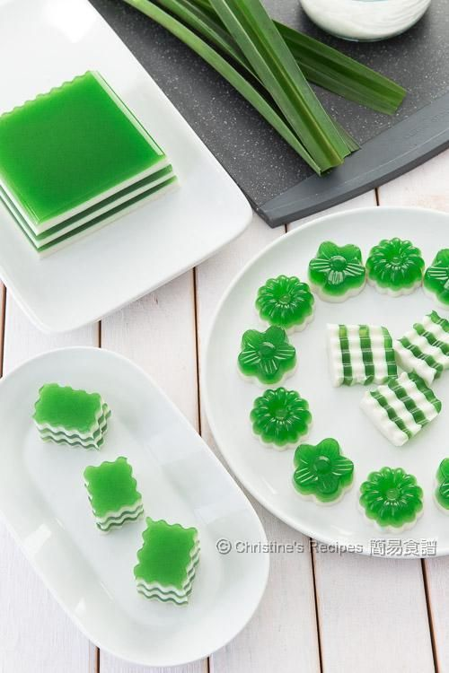 Pandan-Coconut Layered Agar Jelly | Christine's Recipes: Easy Chinese Recipes | Easy Recipes