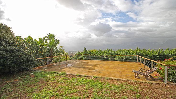 Viewing deck overlooking Paarl #views #luxury #garden #deck #outdoors #inspiration #lifestyle