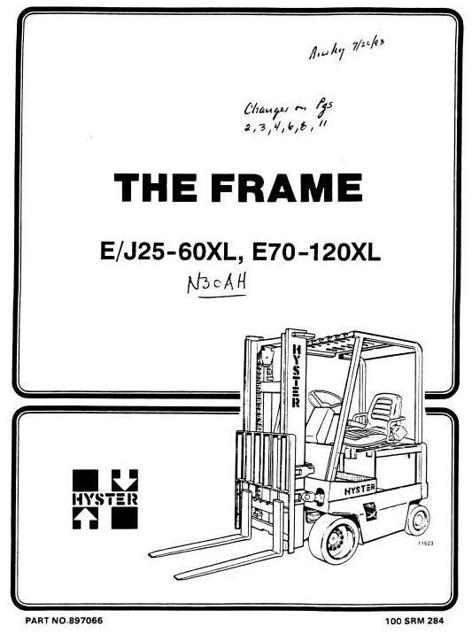 Hyster Electric Forklift Truck Type B210: N30AH Workshop