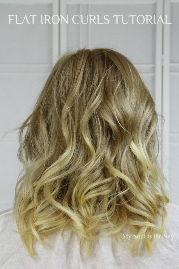 Beauty Basics Flat Iron Curls Just A Touch Of Gorgeous
