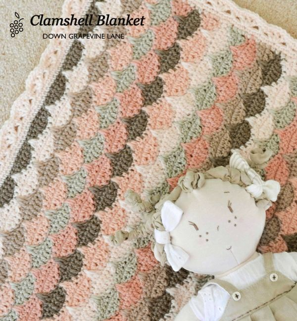 Grapevine Lace Knitting Pattern : Clamshell blanket ~ by Down Grapevine Lane Crafty ...
