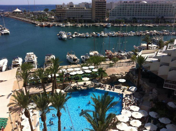 Utsikt från balkongen i Eilat ☀️