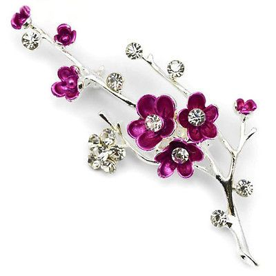 New silver plated #blossom flower #diamante crystal brooch wedding gift #broach,  View more on the LINK: http://www.zeppy.io/product/gb/2/201506853950/