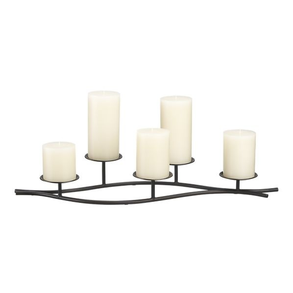 Fireplace - Candle holder for off-season in fireplace