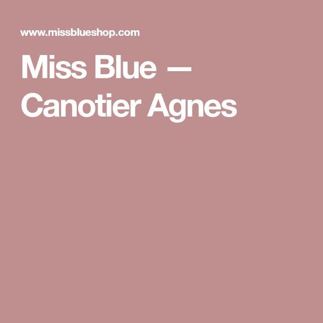 Miss Blue — Canotier Agnes