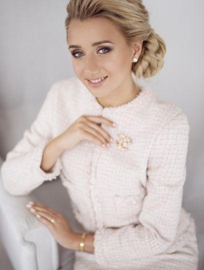 Розовый костюм Chanel ручной работы №3