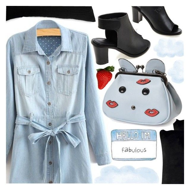 """""""CASUAL SUNDAY"""" by pastelneon ❤ liked on Polyvore featuring Donna Karan and Safavieh"""