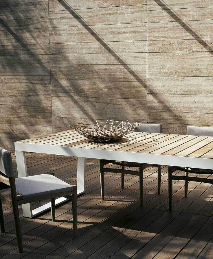 Roda   Table   Extendable   White   Outdoor