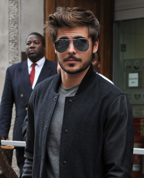zac efron...with facial hair......just when I thought he couldn't get better looking...