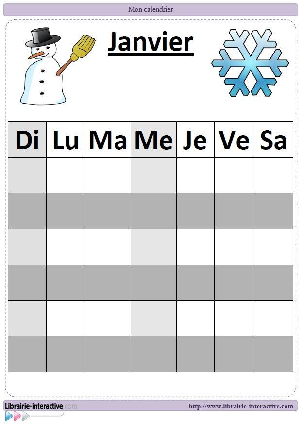Un calendrier illustré, utile et esthétique, facile à compléter ou à modifier qui trouvera sa place sur les murs de votre classe.