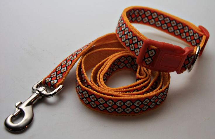 """Cute Halloween Candy Corn 1"""" Dog Leash. $18.00. Find Bonzai Gifts on Facebook for more! (matching 1"""" collar available)"""