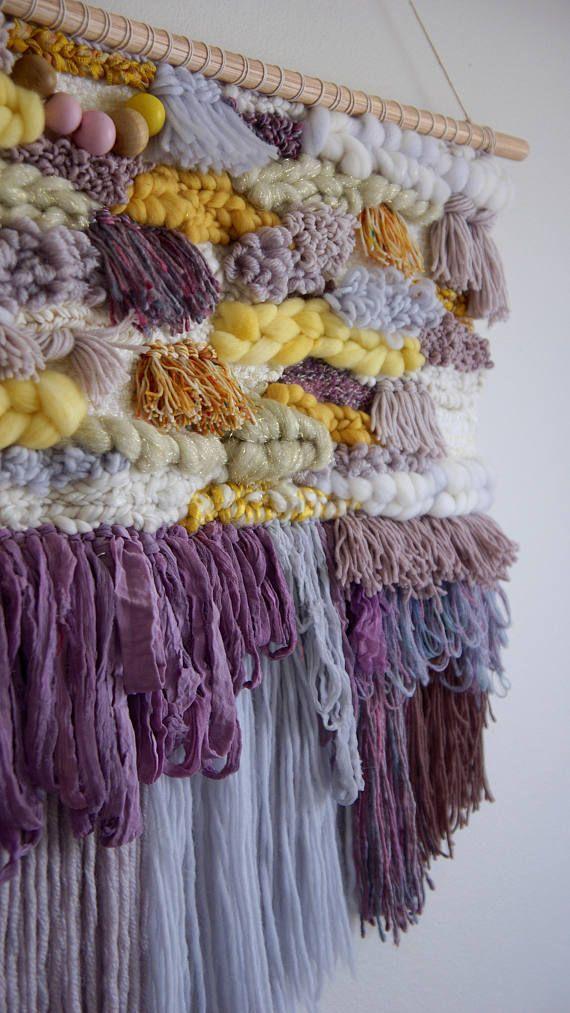 Extra Large Wall Art Boho Girls Nursery Wall Tapestry Boho Bedroom Ideas Modern Hippie Decor Wall Art Tapestries Woven Wall Weaving VIOLA #affiliate