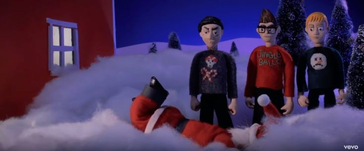 BLINK-182 outdid themselves in really anti-holiday video for 'Not Another Christmas Song'