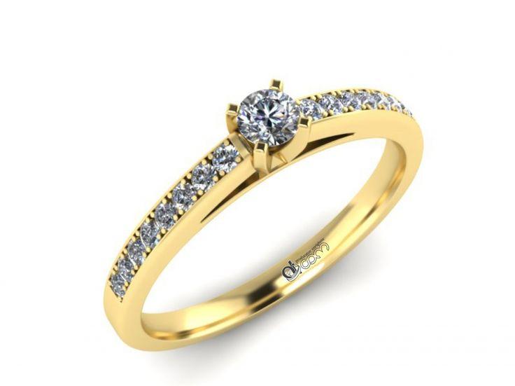 Inel de logodna ATCOM Lux cu diamante MAGNUS aur galben