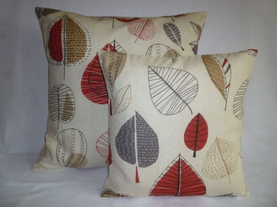 Cyber Monday SalePAIR BIG SMALL Pillows Red Gray Designer Cushion Covers Pillowcases Shams Slips Scatter. on Etsy, £14.32