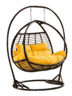 Подвесное кресло кокон из ротанга Галант