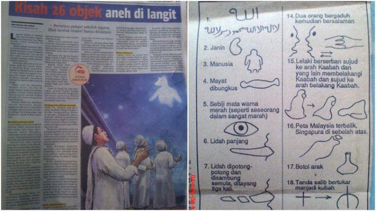 Kisah 26 objek aneh di langit yang menggemparkan Malaysia pada tahun 1992   Kisah 26 objek aneh di langit yang menggemparkan Malaysia pada tahun 1992 | Pada 26 Julai 1992 telah berlaku satu fenomena yang sangat aneh sekumpulan 200 pelajar sebuah sekolah agama di Klang Selangor; mendakwa melihat 26 objek aneh yang secara tiba-tiba muncul di langit.  Kisah 26 objek aneh di langit yang menggemparkan Malaysia pada tahun 1992  Objek aneh tersebut adalah gambaran 26 imej yang kelihatan di langit…