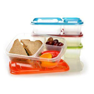 i need these bento lunch containersBento Lunches, Kids Lunches, Lunch Boxes, 3 Compartments Bento, Easylunchboxes 3 Compartments, Bpa Fre, Schools Lunches, Lunches Ideas, Lunches Boxes Container