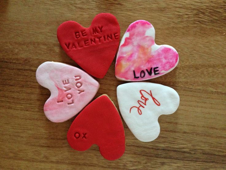 Valentine's Day Stamped Heart Cookies