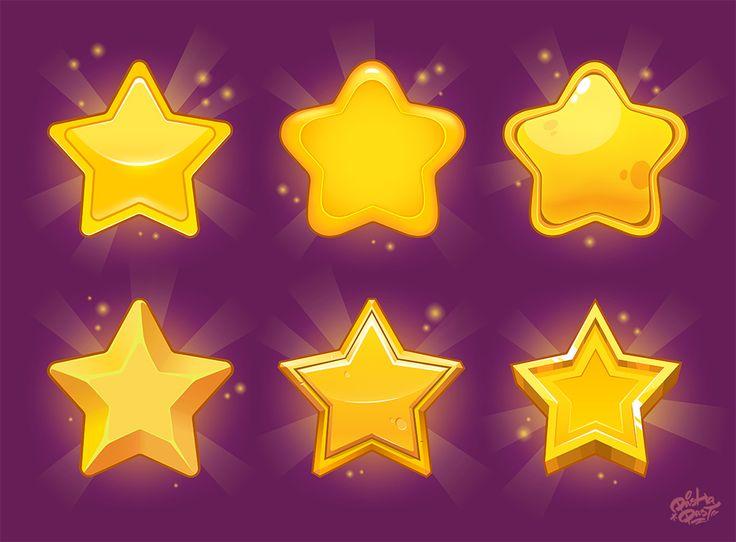 Stars for games on Behance